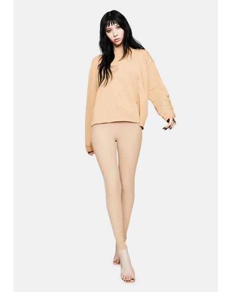 Tan Veronica Thermal Leggings