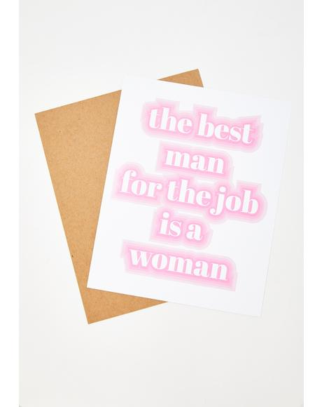 Best Man Art Print