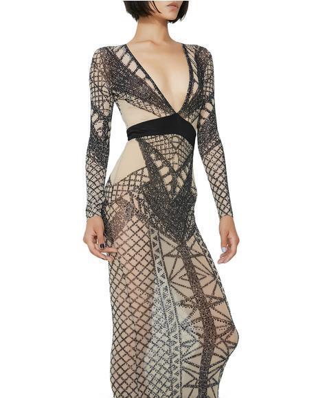 Queen Freaque Geometric Dress