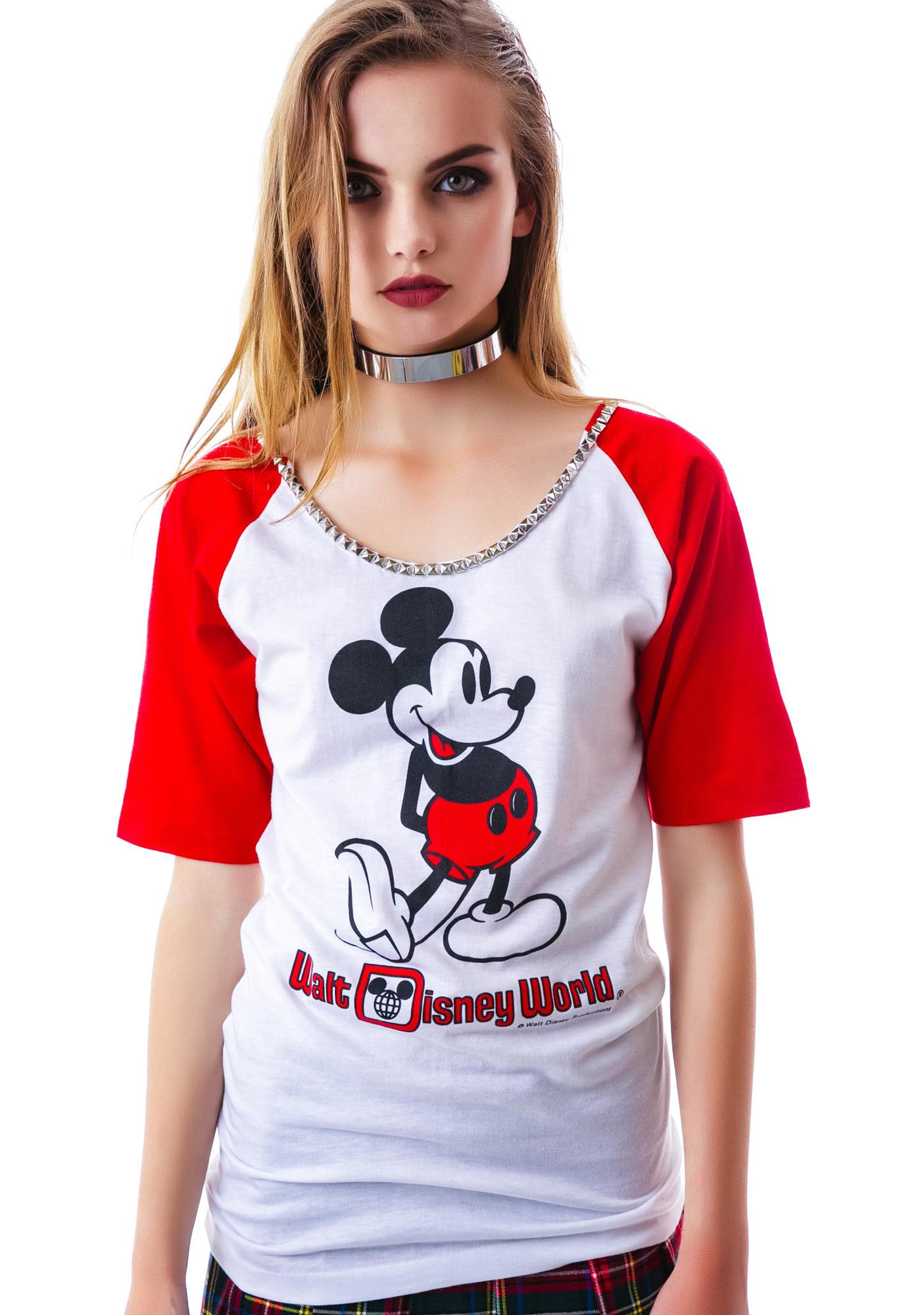 Hazmat Design M the Mouse Vintage Stud Raglan
