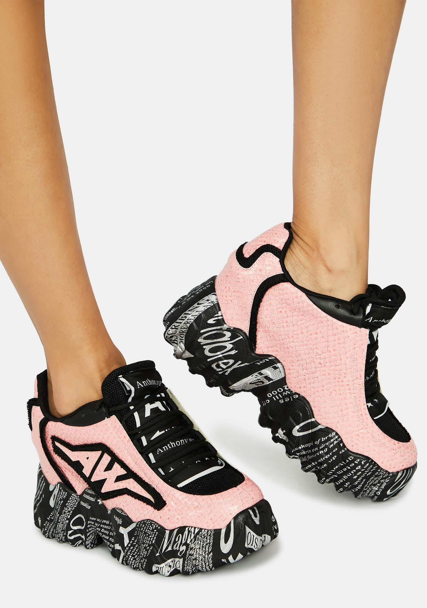 Anthony Wang Pink Blackberry Sneakers