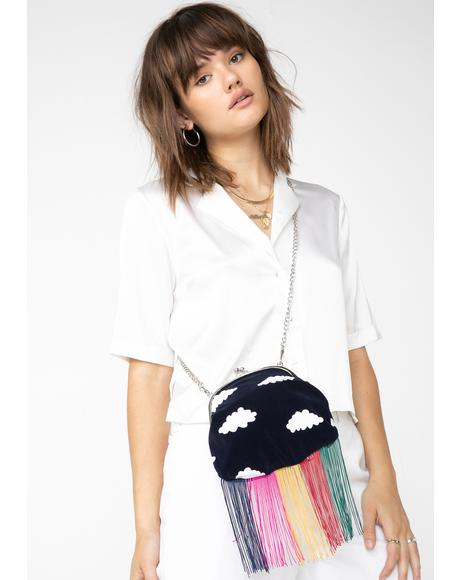 Rainbow Fringe Cloud Bag