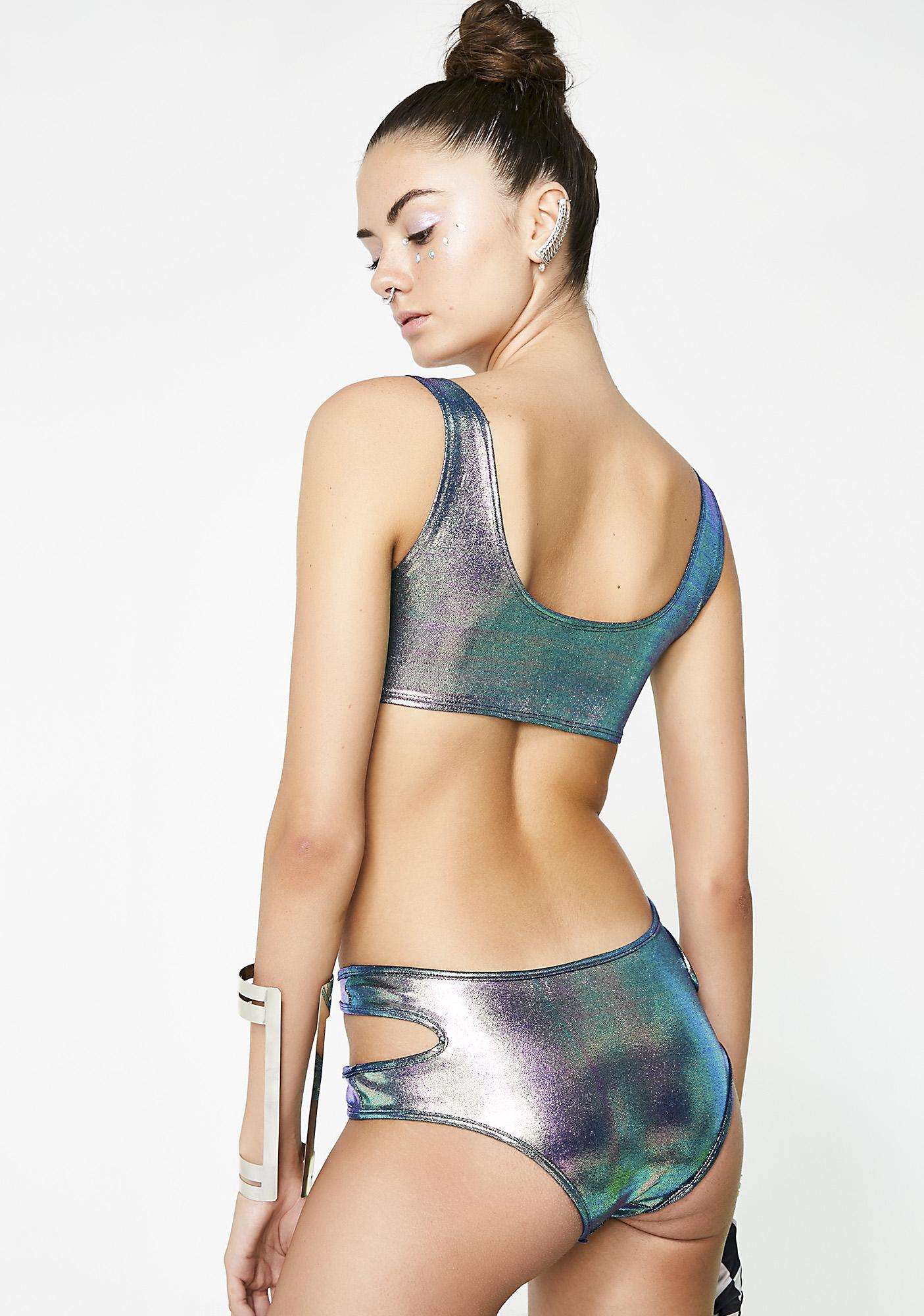 Mermaid Suckerpunch Cut-Out Bodysuit