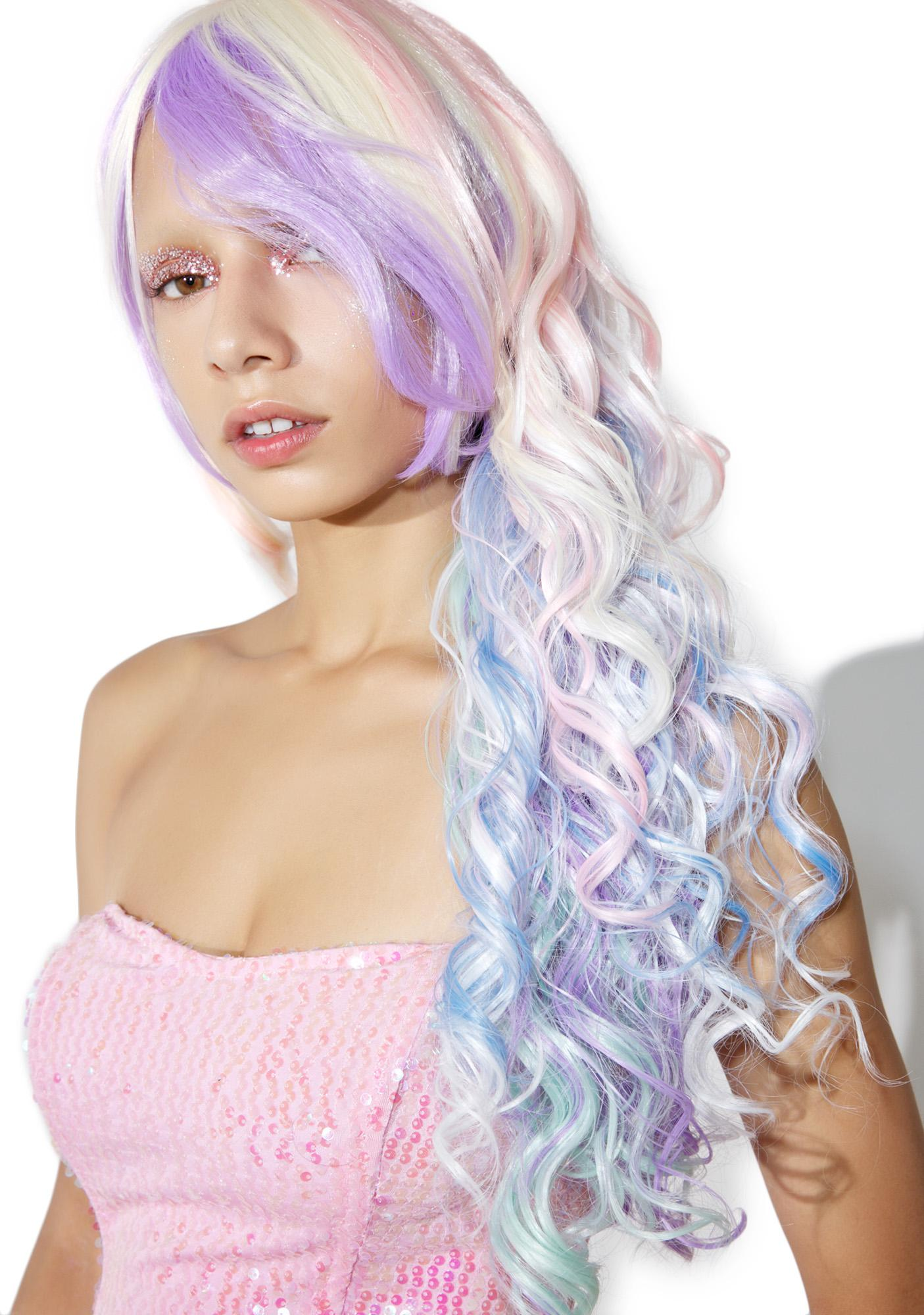 Rockstar Wigs Rainbow Rock Curly Wig