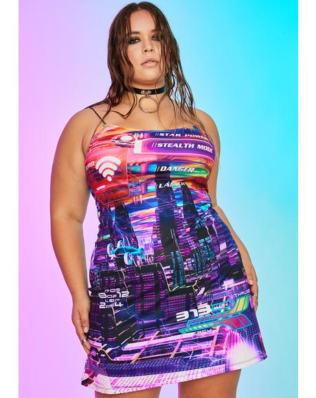 Her Manic Madness Print Dress