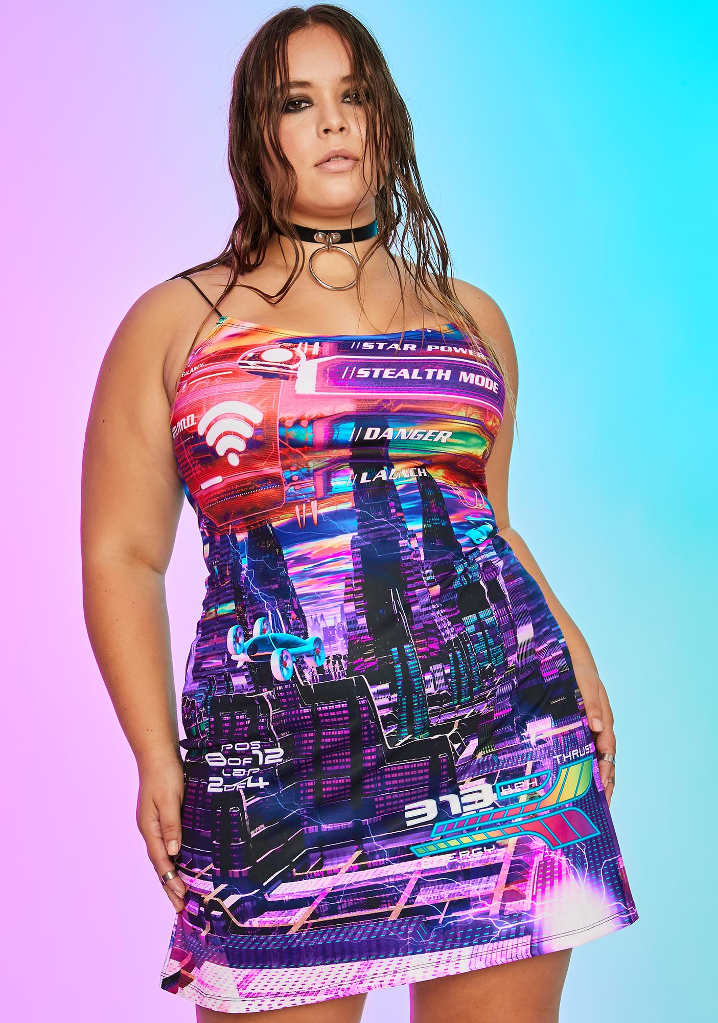 Current Mood Her Manic Madness Print Dress