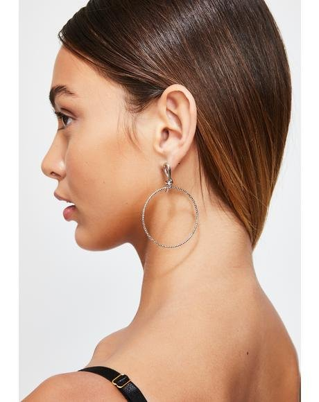 Fenced In Wire Hoop Earrings