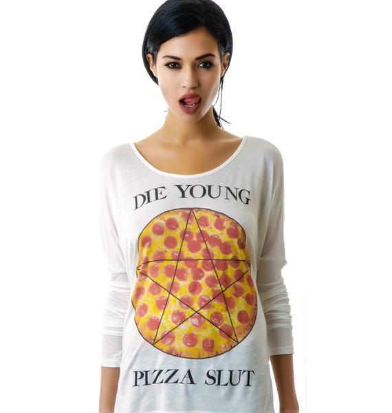 United Couture Pizza Slut Long Sleeve Tee