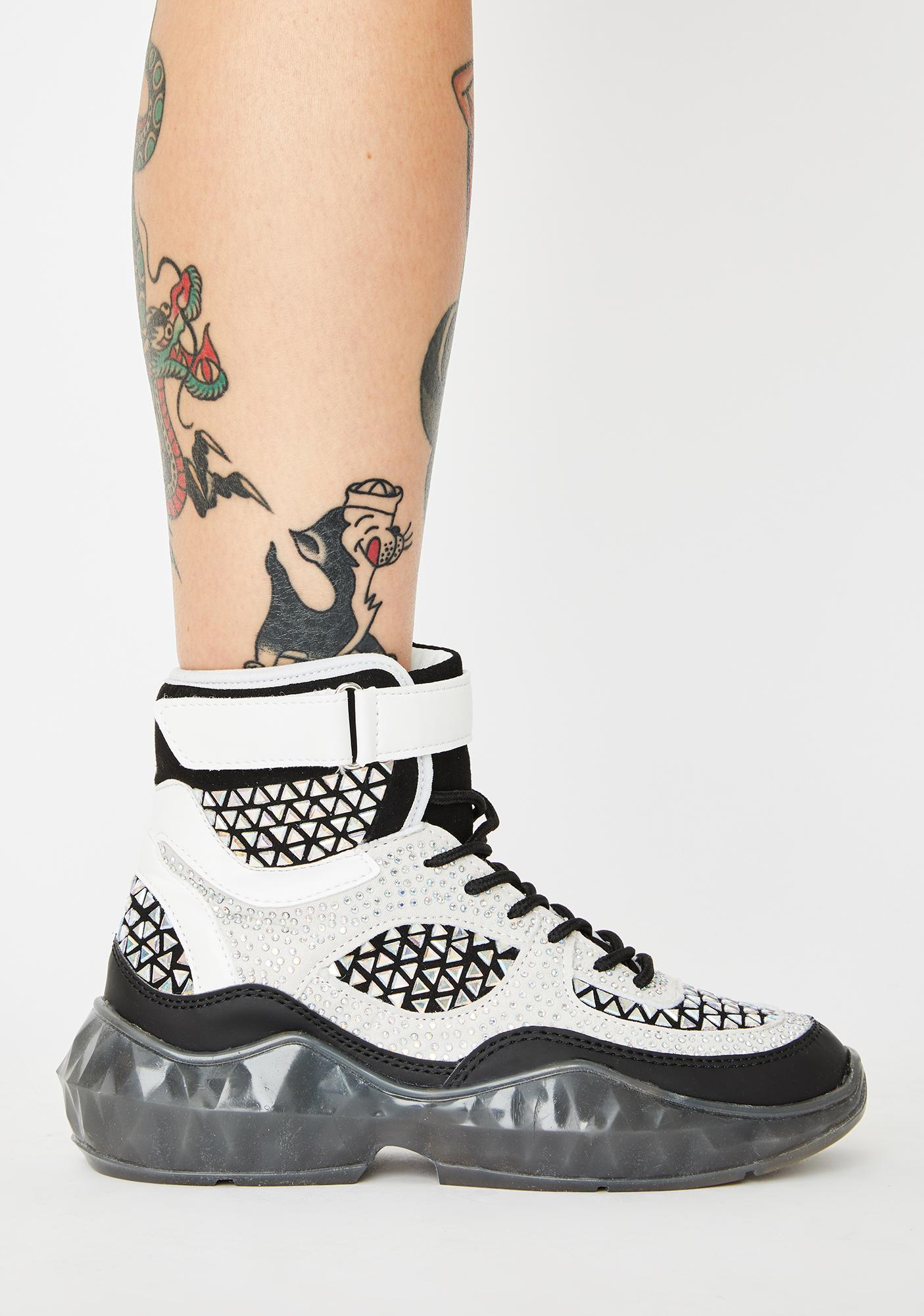 Night Gridlocked High Top Sneakers
