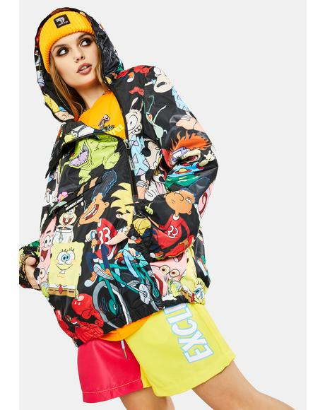 Nickelodeon Hooded Pullover Jacket