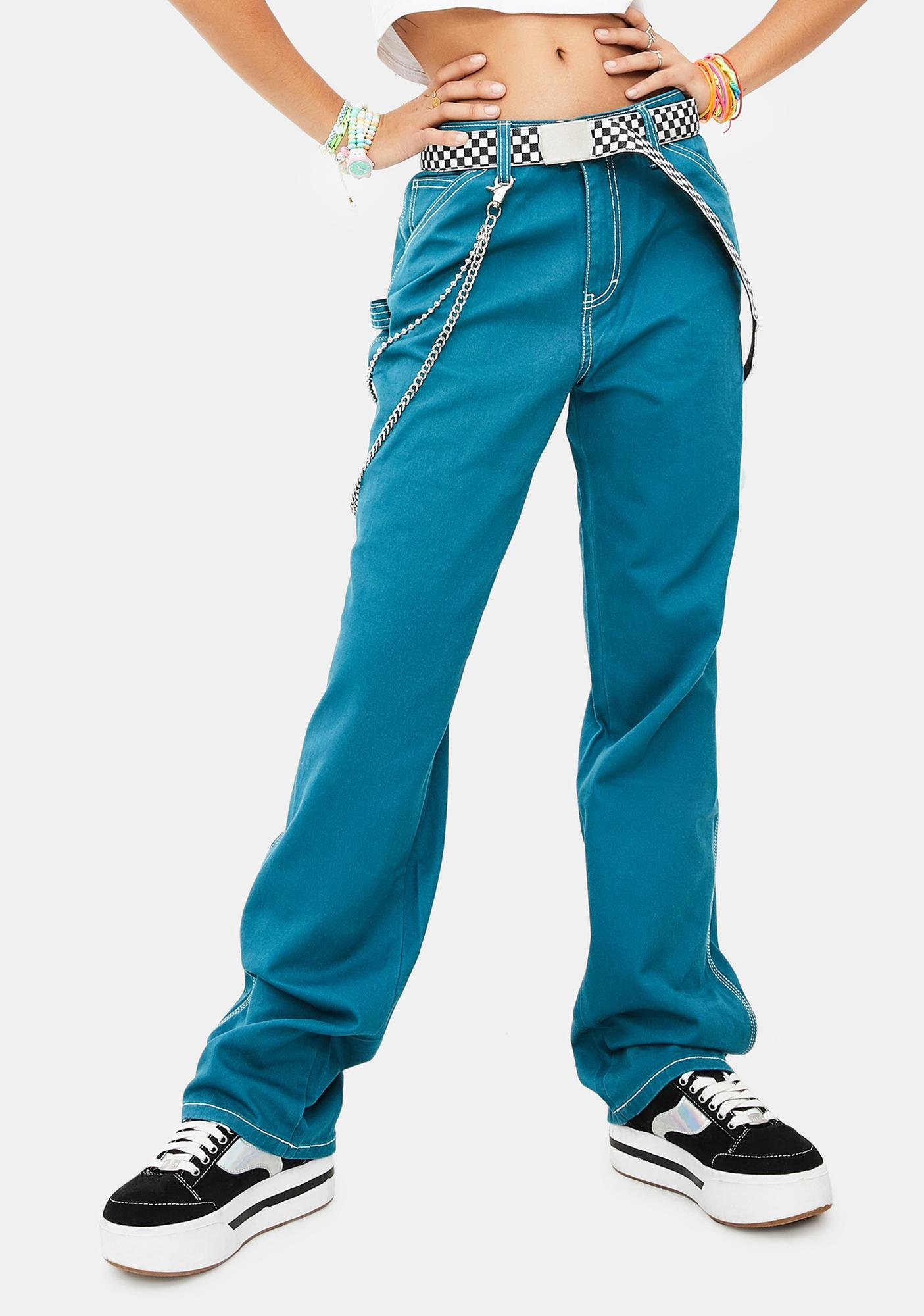 Dickies Girl Deep Sky Carpenter Pants