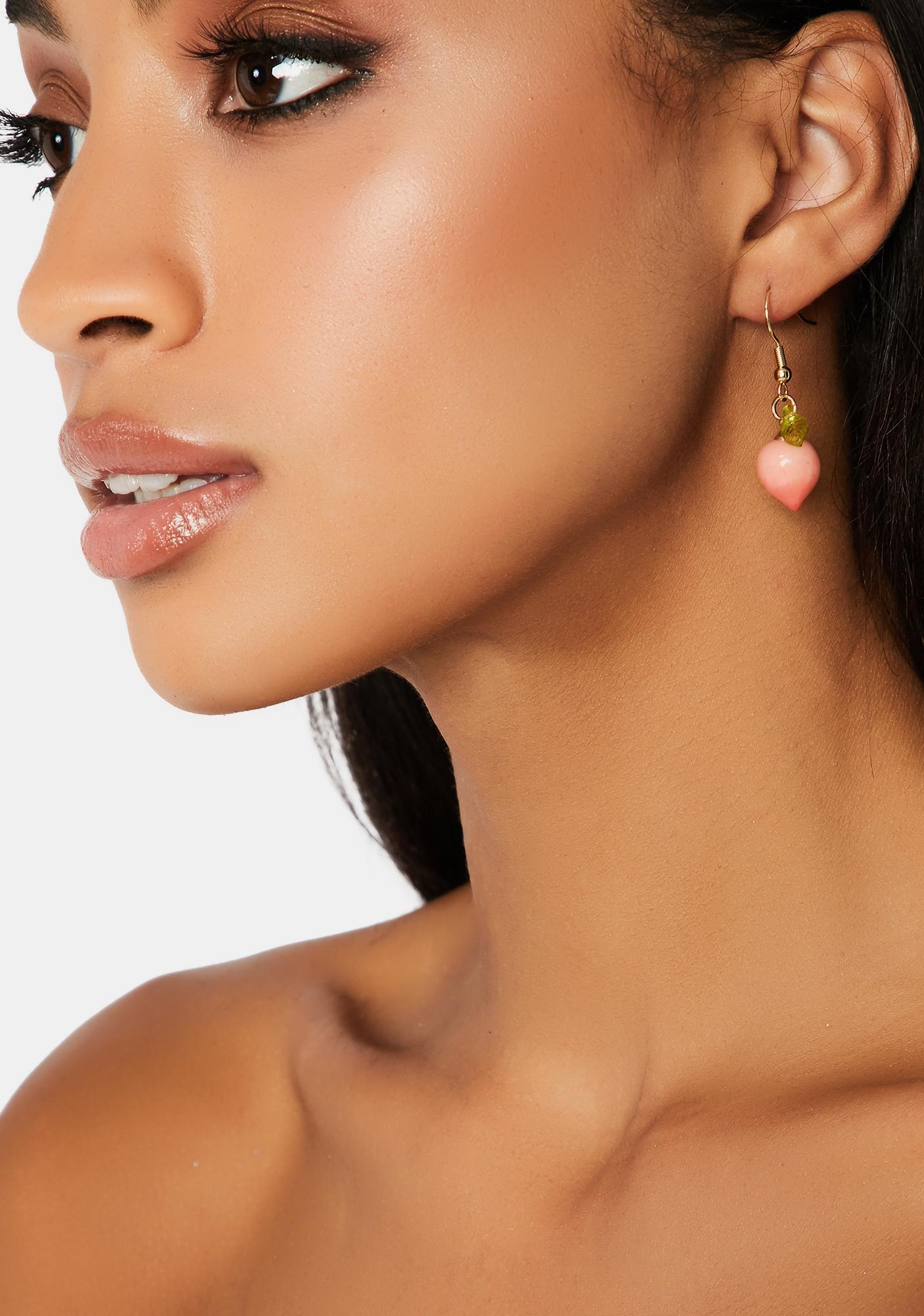 Ur A Peach Drop Earrings