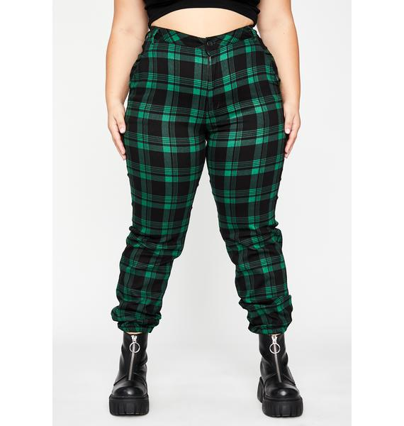 Pretty Dank Misconduct Plaid Joggers
