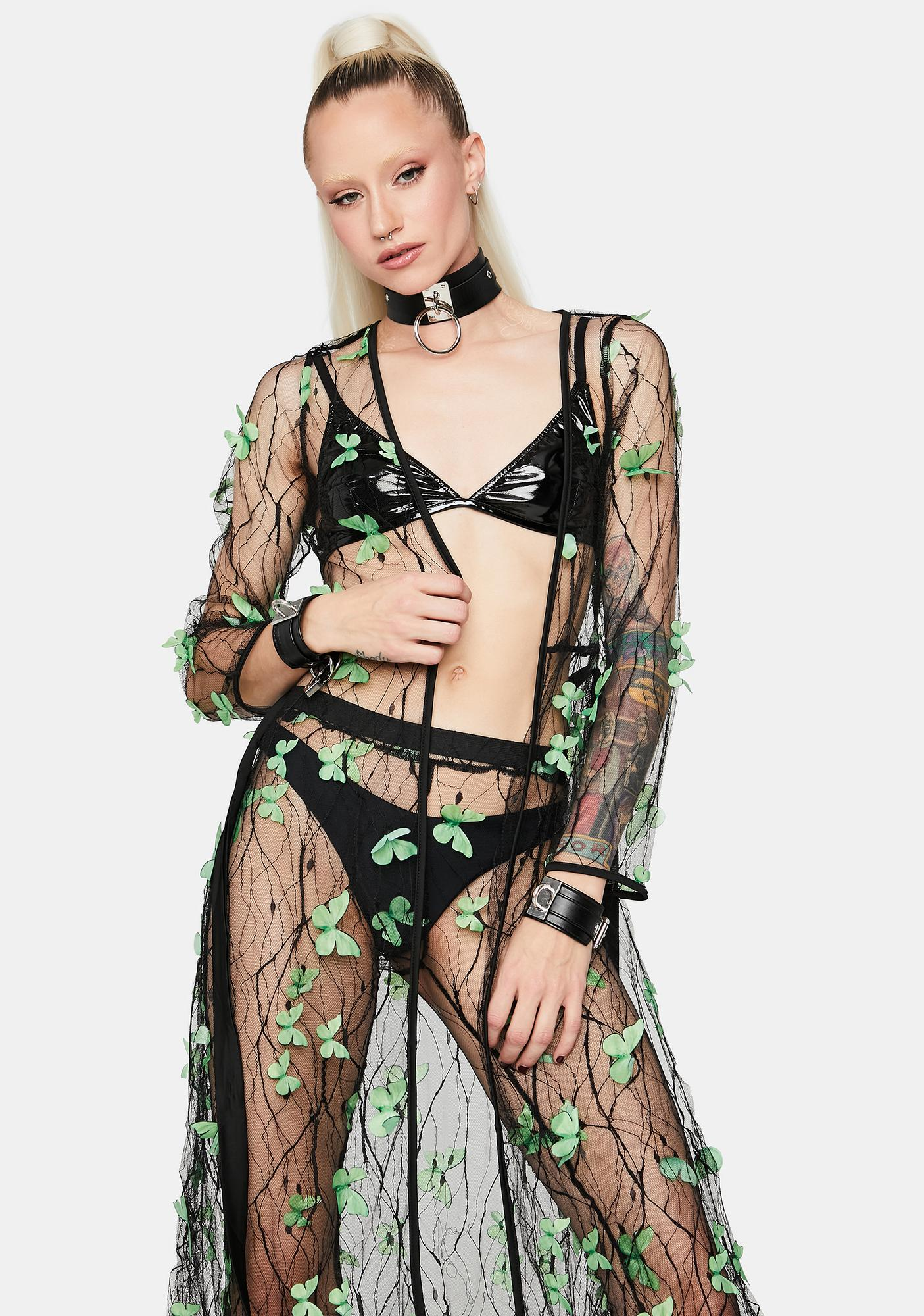 Lush Fairy Haven Sheer Butterfly Duster