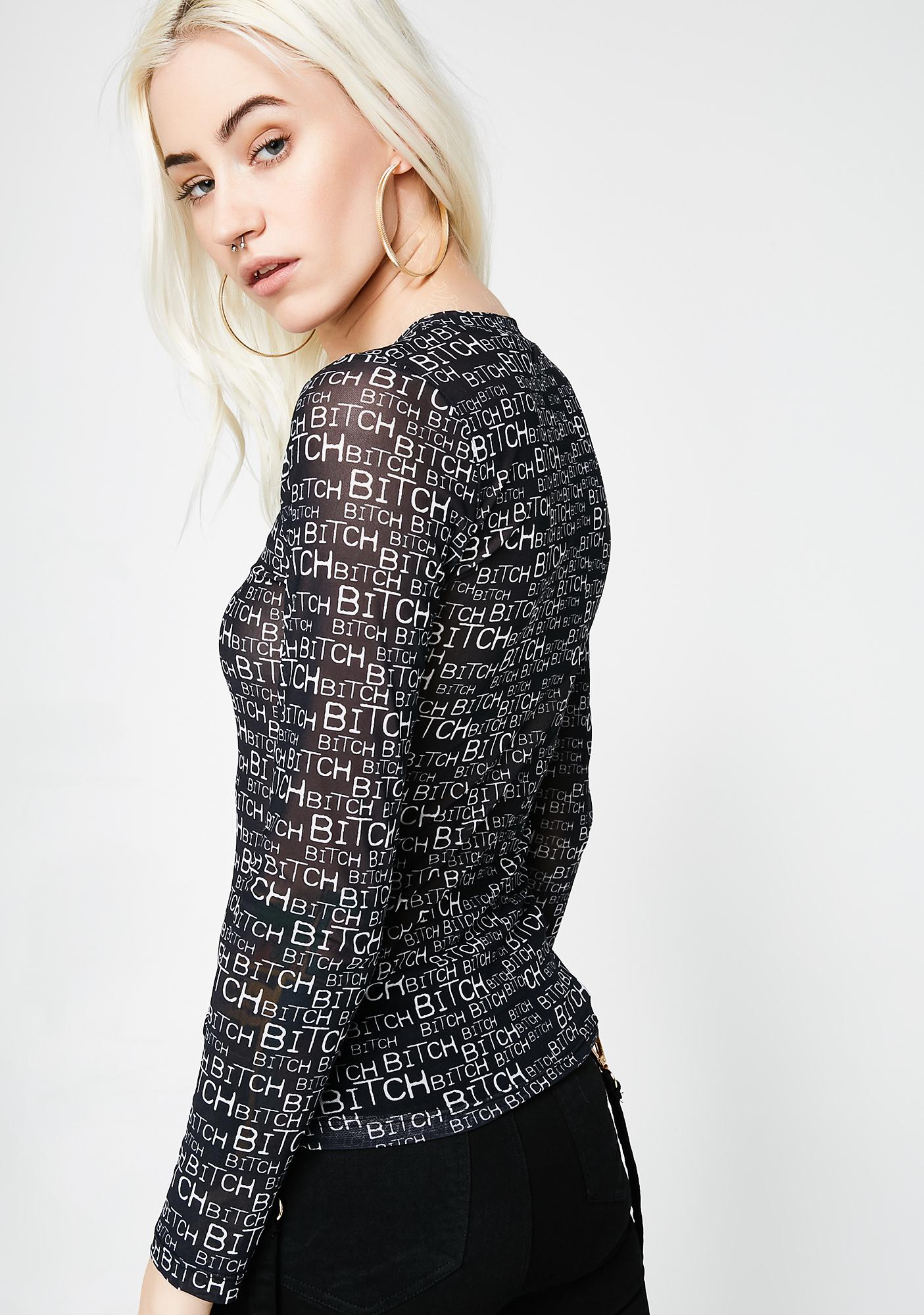 Kiki Riki Head Beezy Mesh Long Sleeve Top