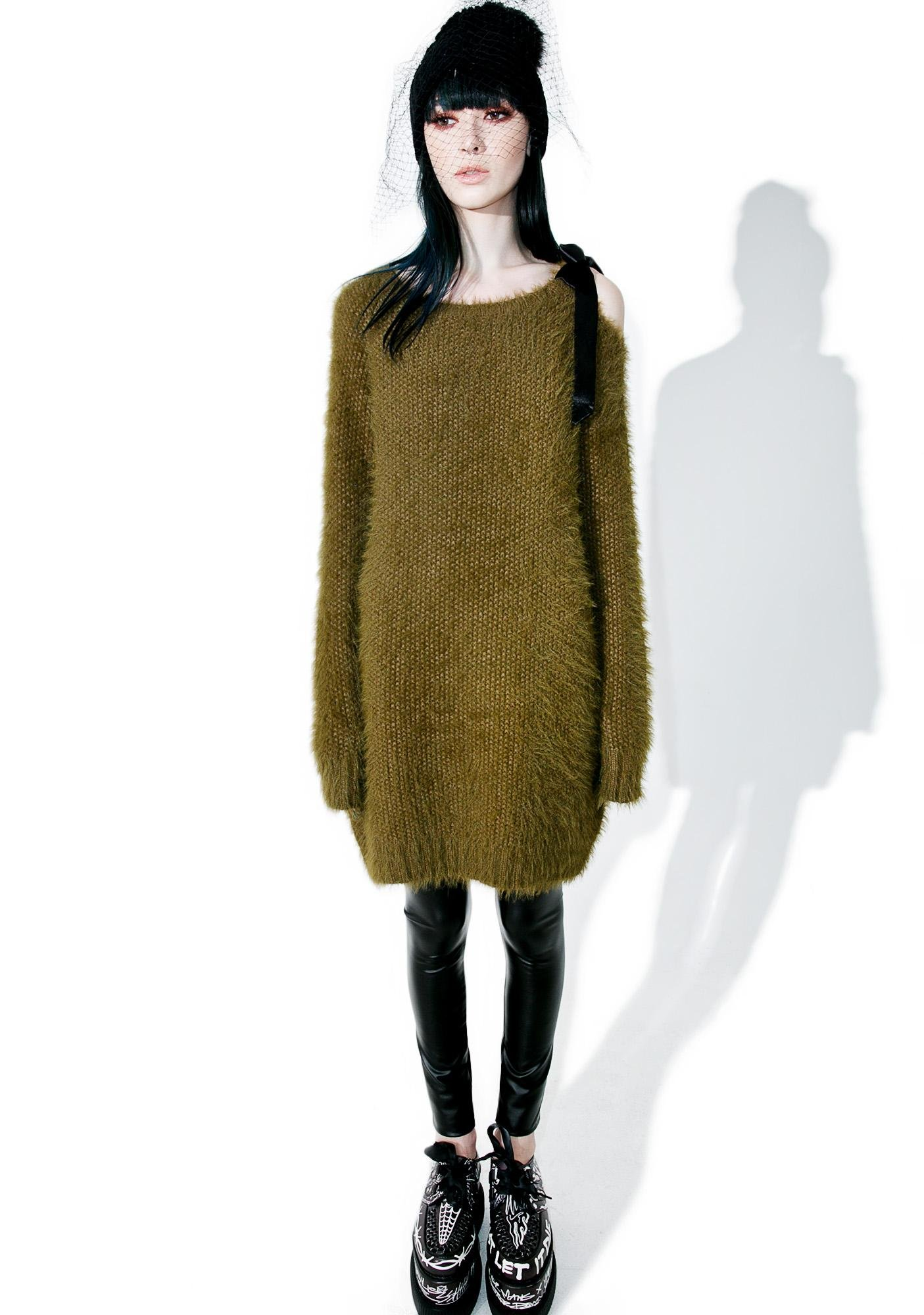 Glamorous Pursuit Fuzzy Sweater