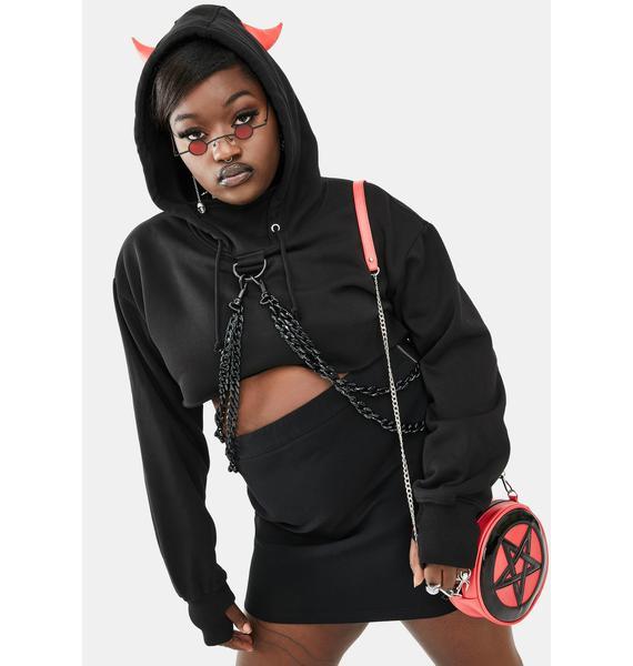 Dolls Kill Devil So Chained N' Dangerous Hoodie