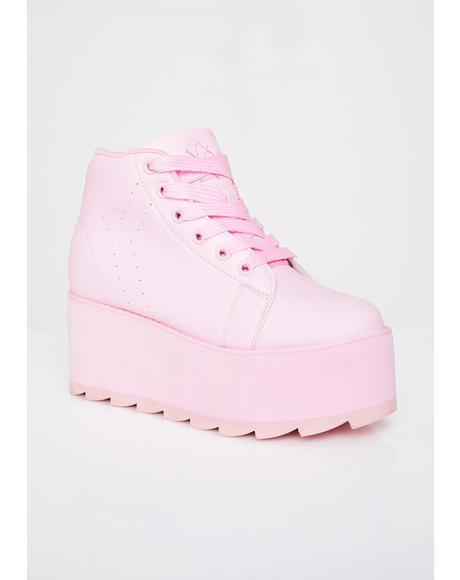 Lala Hi Platform Sneakers