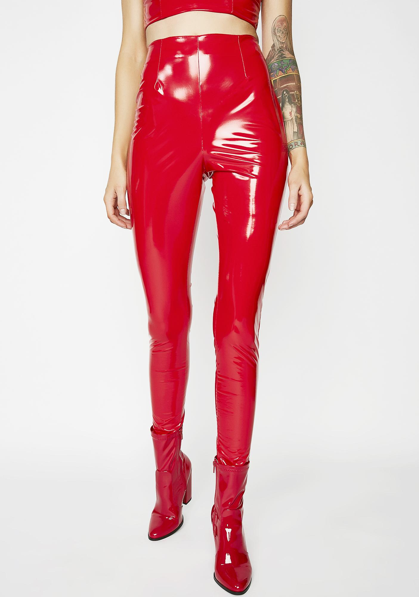 Flame Inner Freak Vinyl Pants