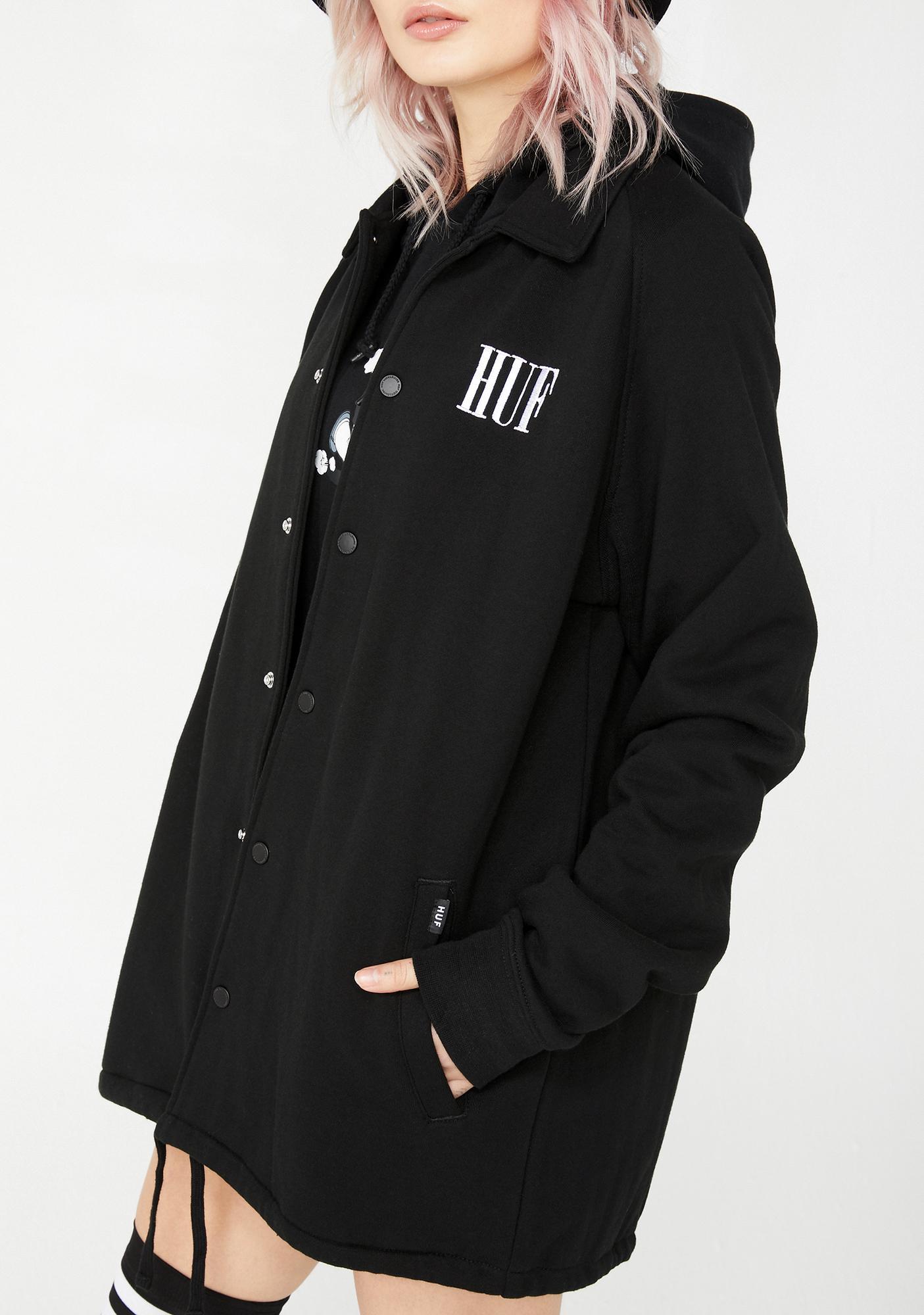 HUF Olive Fleece Coaches Jacket