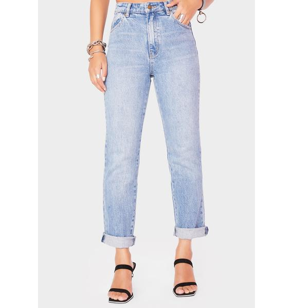 Rollas Brad Blue Original Straight Leg Jeans