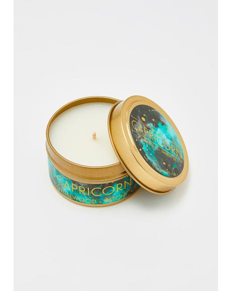 Capricorn Travel Tin Candle