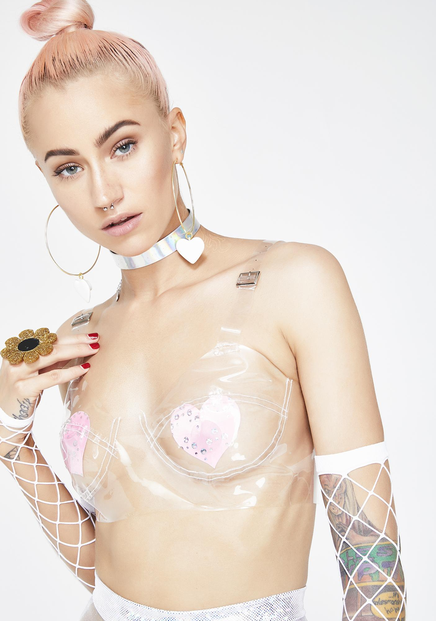 Clear As Day Transparent Bra