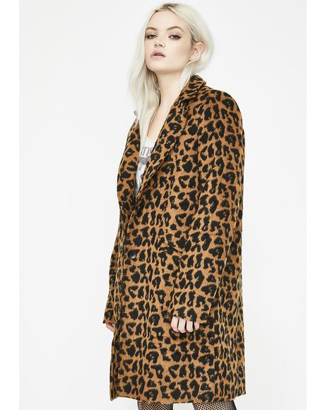 Wanna Play Leopard Coat