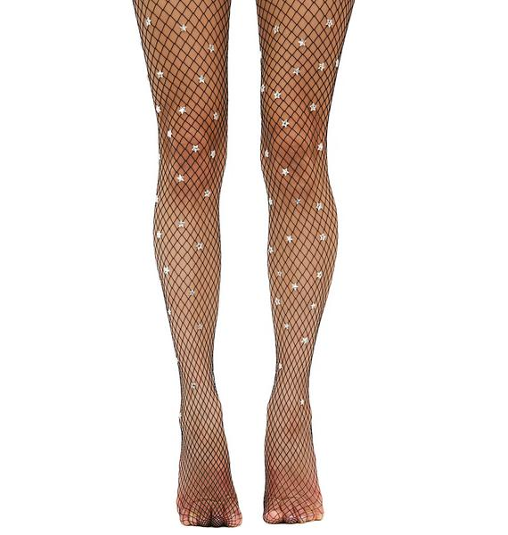 Lirika Matoshi Starry Sky Handmade Fishnet Stockings