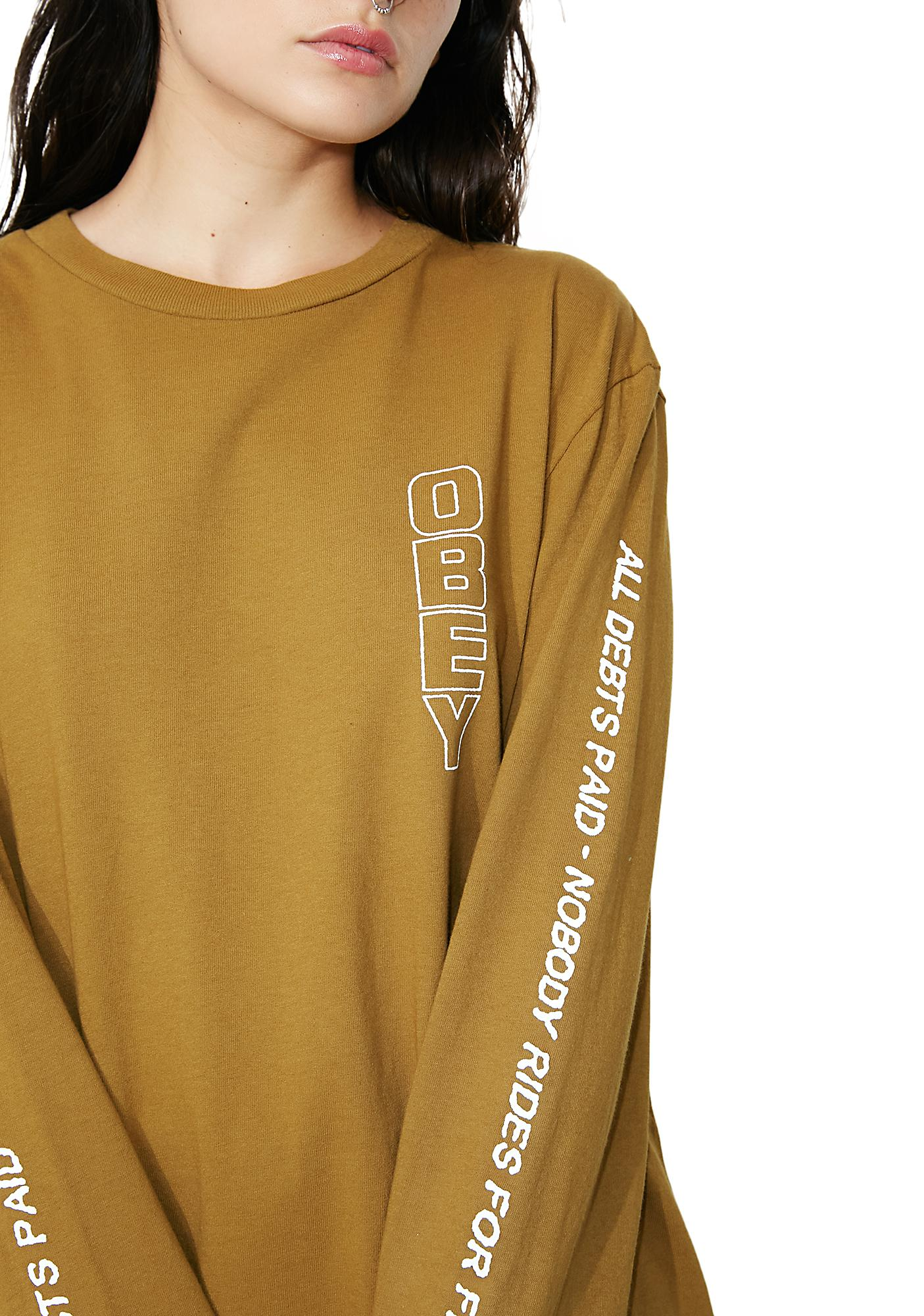 Obey Hard Times Basic Pigment Long Sleeve Tee