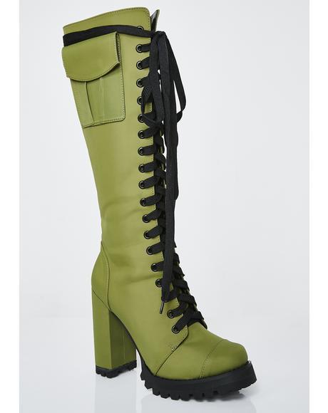 Hold Ya Down Military Boots