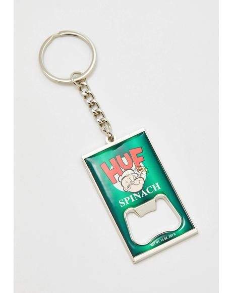 Popeye Can Opener Key Chain