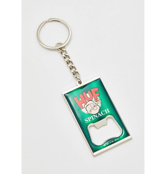 HUF Popeye Can Opener Key Chain