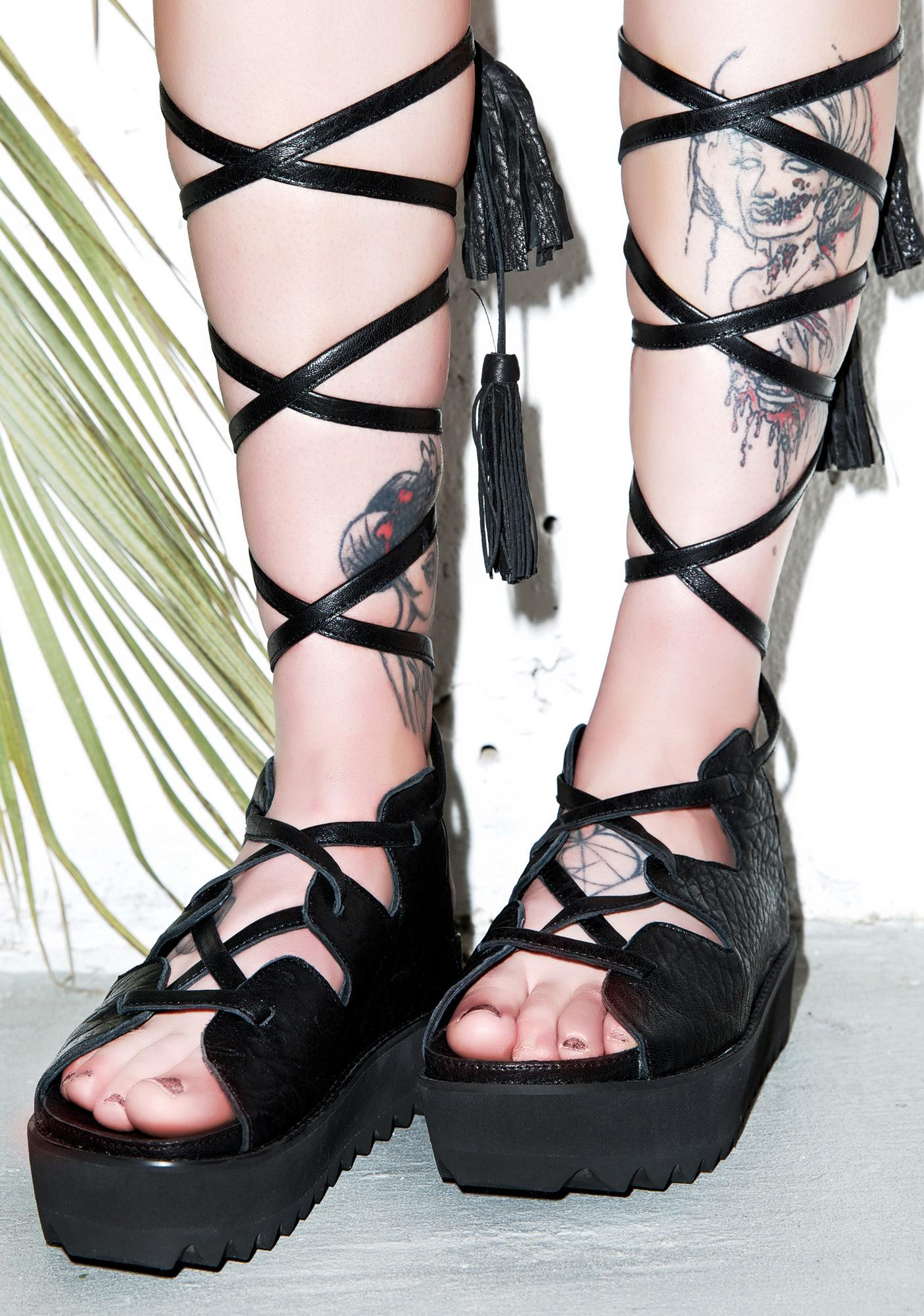 Intentionally Blank Retrograde Platform Sandals