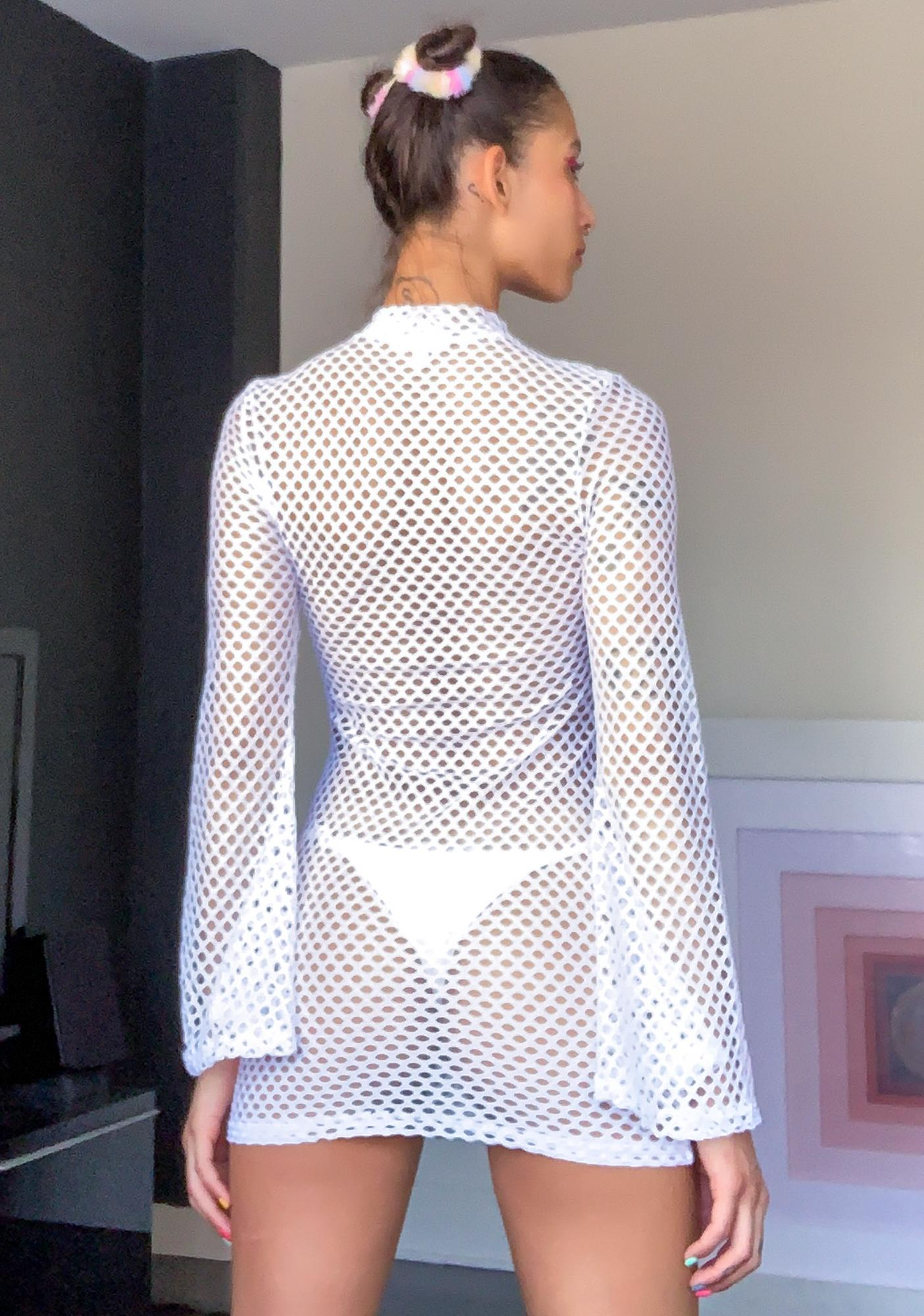 Sugar Thrillz Pure Kandi Utopia Fishnet Dress