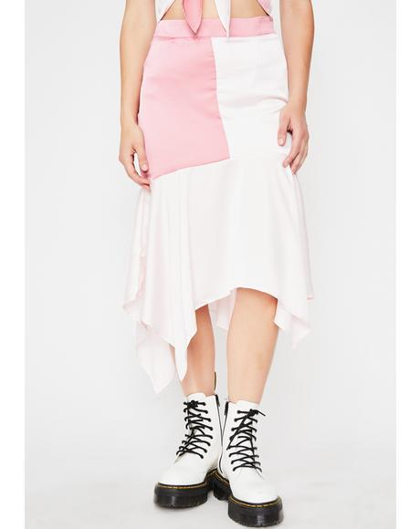 Socialite Sweetener Colorblock Skirt