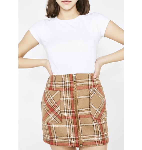 Honey Punch Fallout Girl Plaid Mini Skirt
