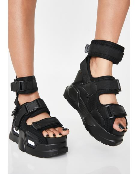 Daily Hustle Platform Sandals