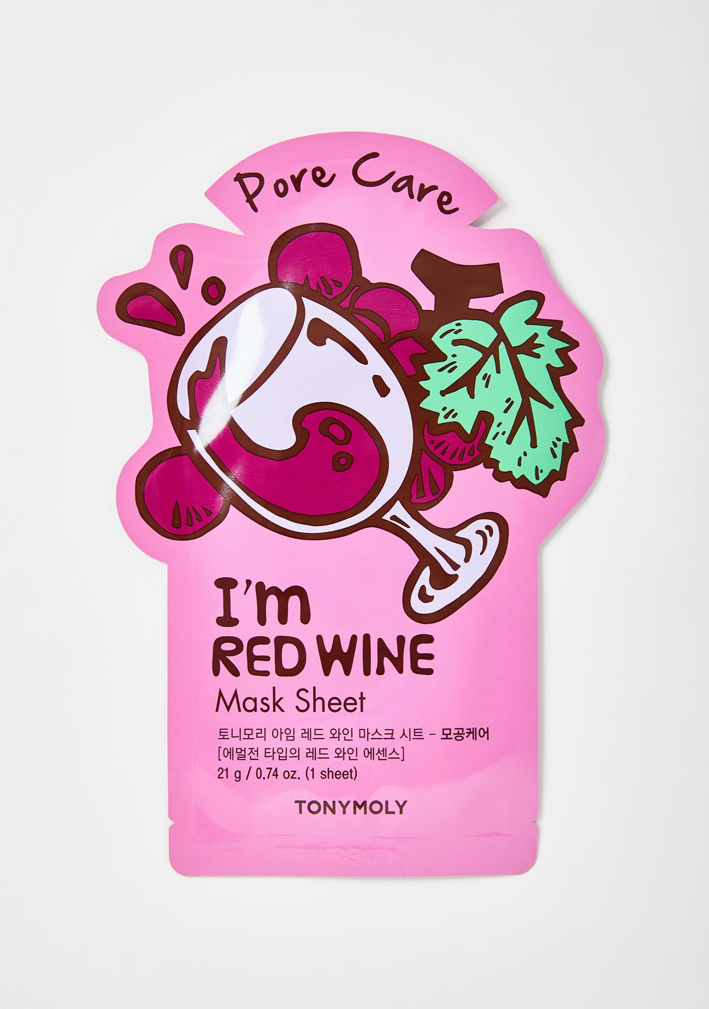 TONYMOLY Red Wine I'm Real Sheet Mask