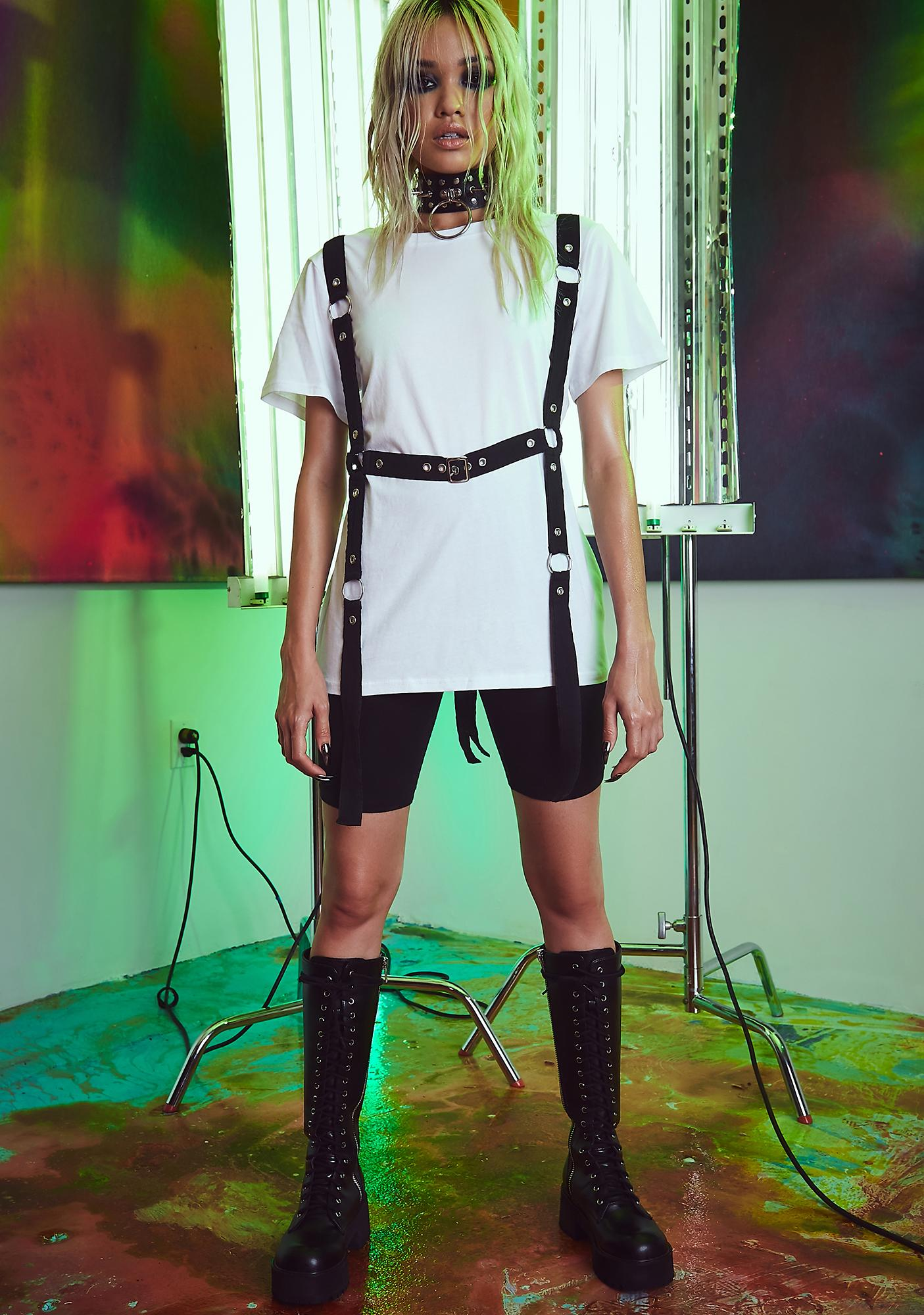 Current Mood Ready For Action Harness Tee