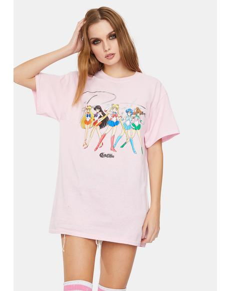 Pink Sailor Moon Graphic Tee