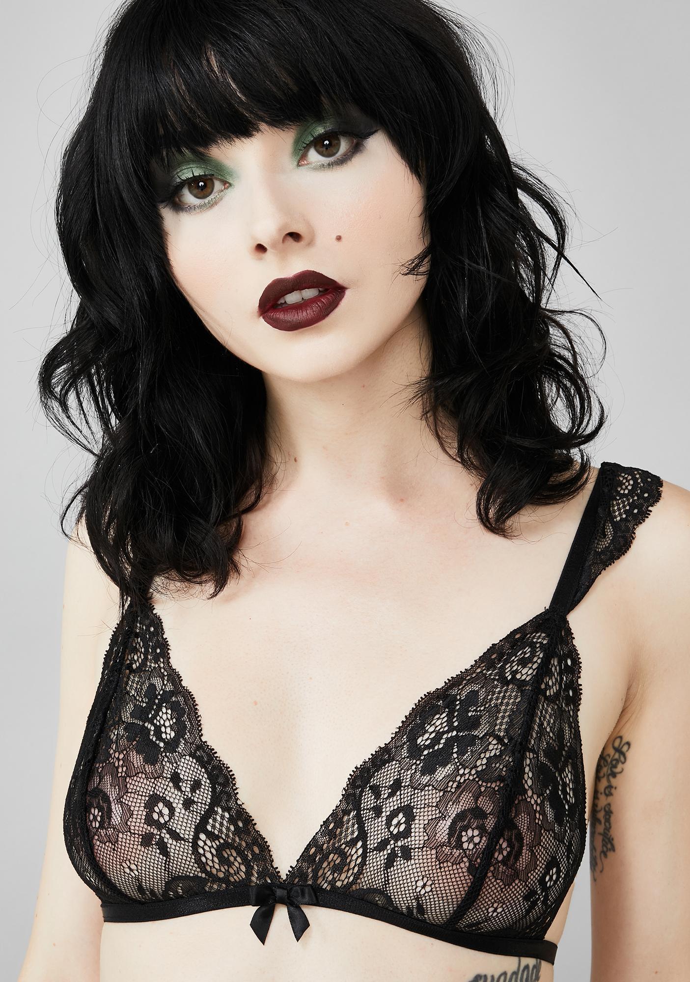 Widow Mournful Mistress Lace Bralette