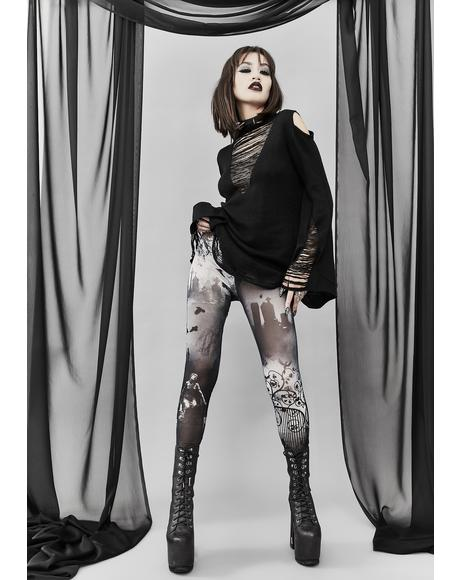 Ghouls Night Out Mesh Leggings