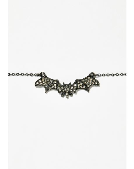 Spooky Sass Bat Necklace