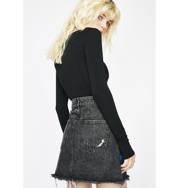 Fresh Ink Denim Skirt