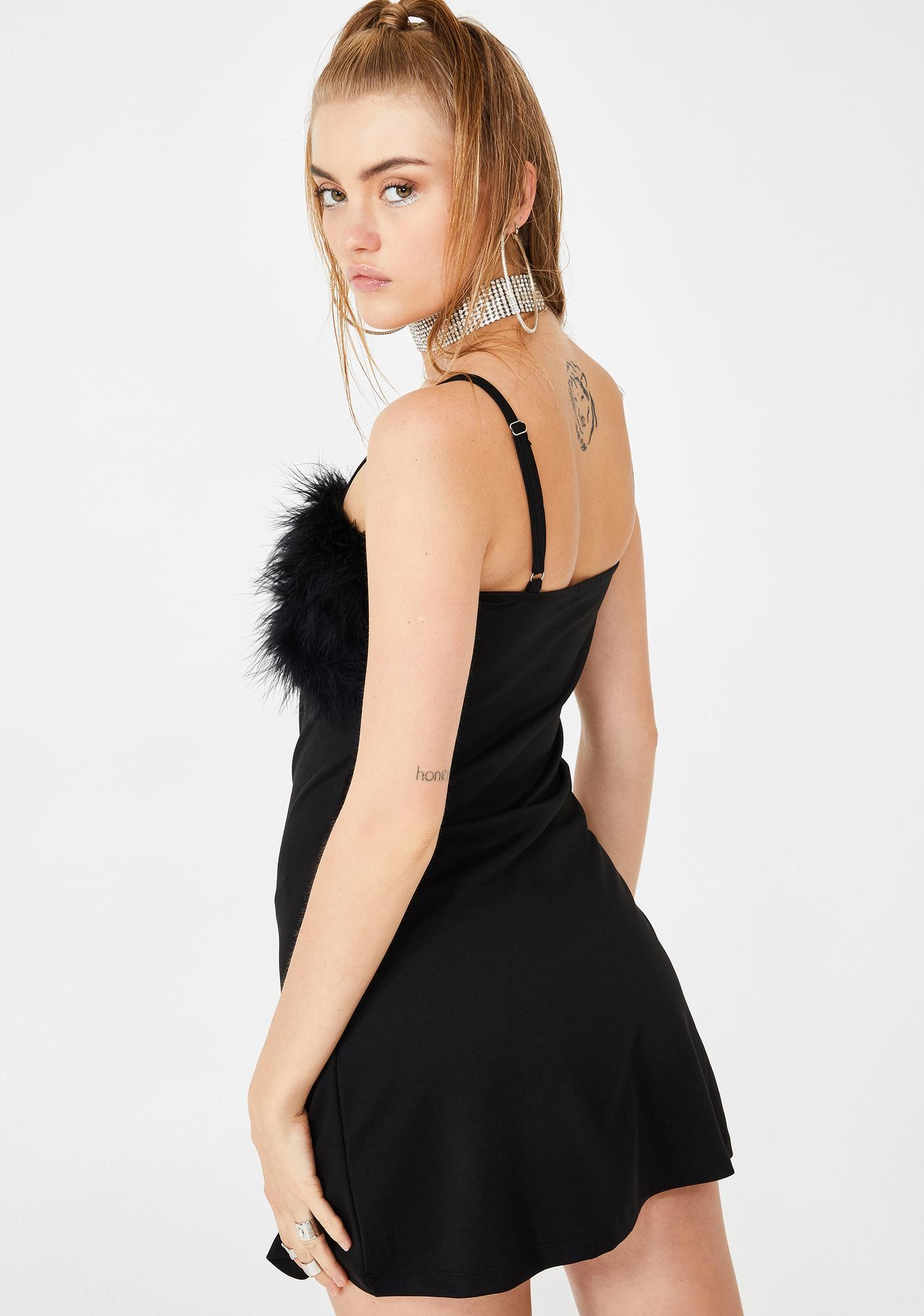Sugar Thrillz Flirty N' Thriving Marabou Dress