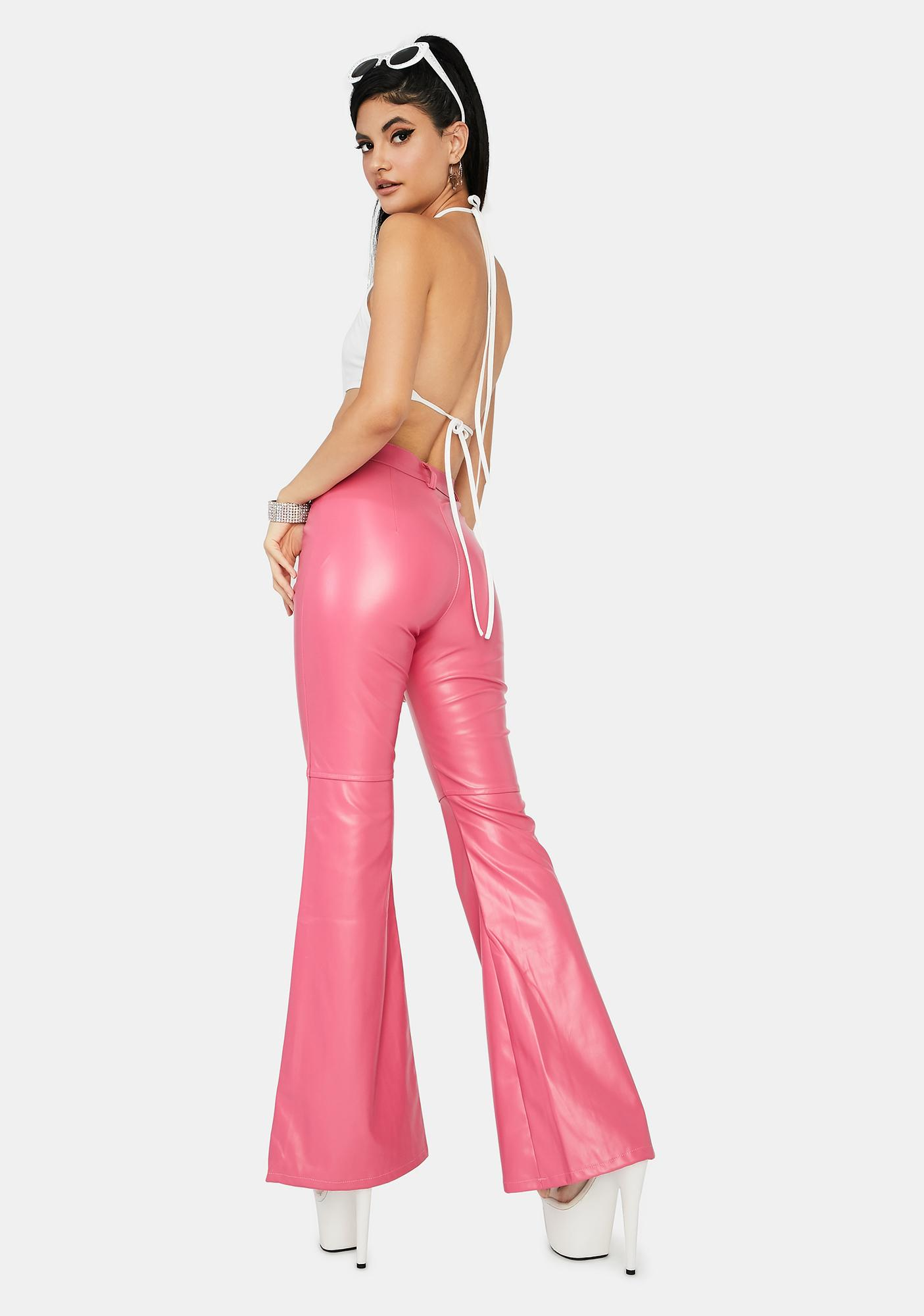 Candy Impure Faux Leather Flare Pants