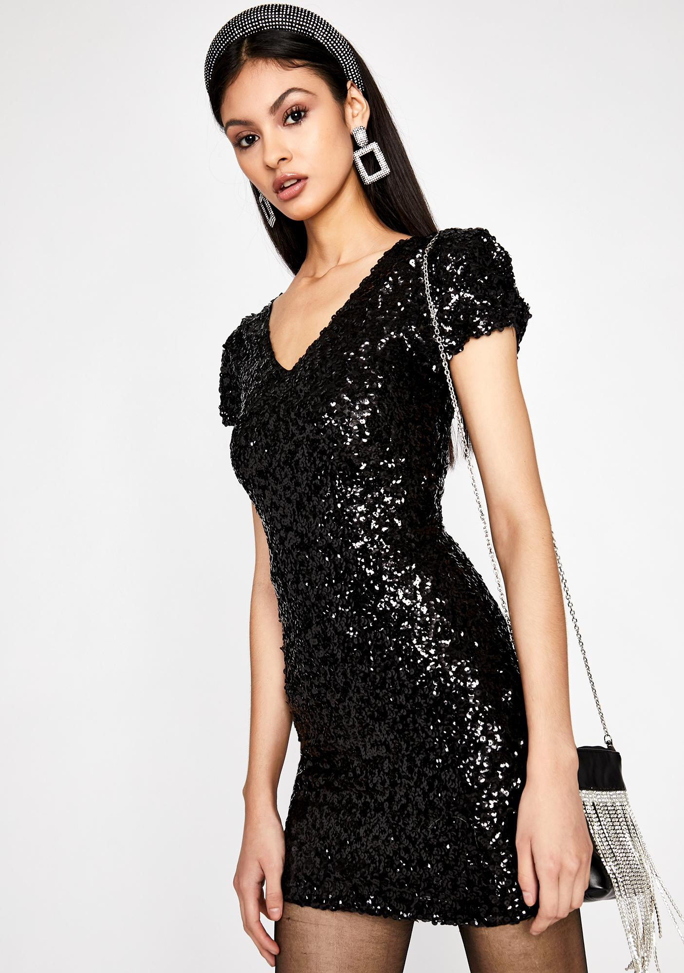 80s Prom Night Sequin Dress