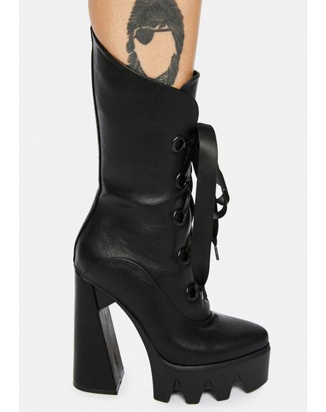Dark Angel Platform Ankle Boots