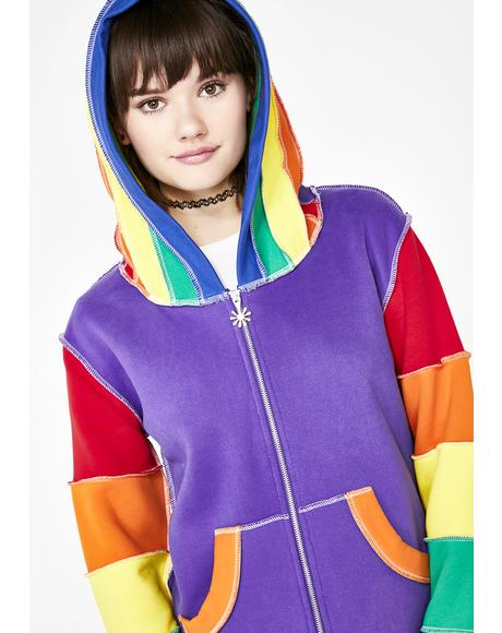 In Living Color Rainbow Hoodie